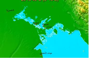 +متر واحد لمستوى البحر